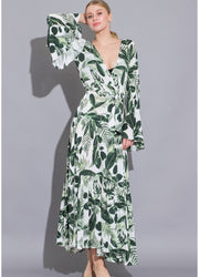 Green Long Sleeve <br>Maxi Dress