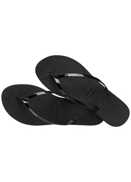 Slim You Metallic <br>Black Havaianas