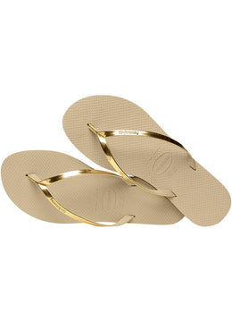 Slim You Metallic <br>Gold Havaianas
