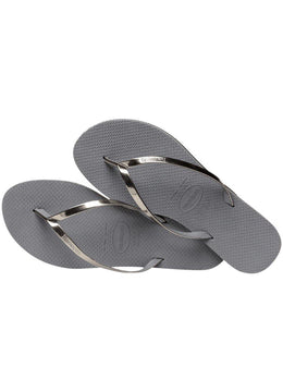 Slim You Metallic <br>Silver Havaianas