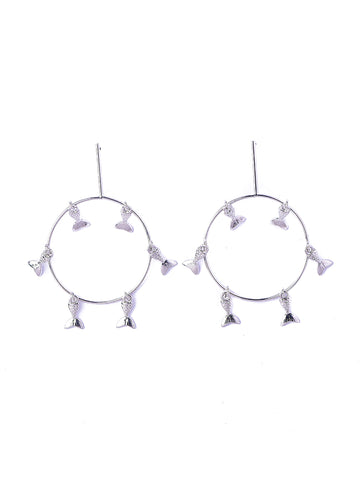 Fish Hanging <br>Silver Earrings