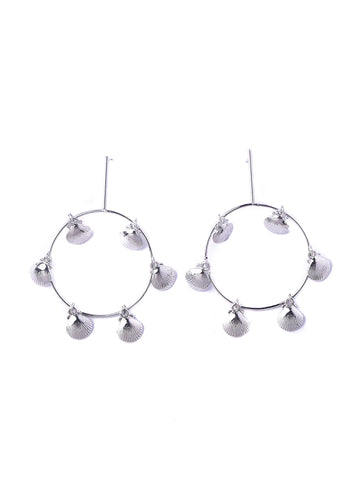Shell Hanging <br>Silver Earrings