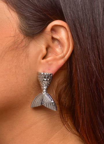 Silver Mermaid <br>Stud Earrings