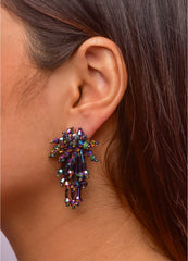 Crystal Beaded <br>Tassel Earrings