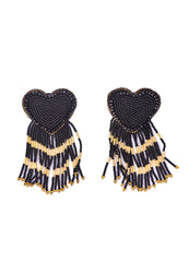 Heart Beaded <br>Large Earrings