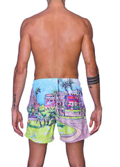 Colorful print <br>Swim trunk