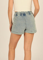 Light Denim <br>Wash Shorts