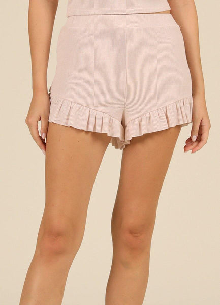 Pink Ruffled <br> Shorts