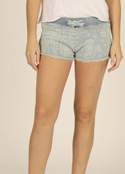 Denim Print <br>Shorts