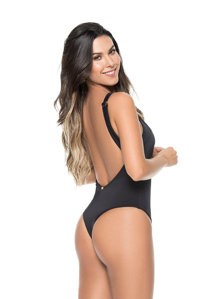 Black Semi-thong <br>One Piece