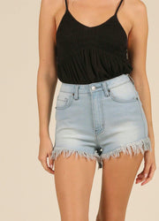 Denim High Waist <br>Shorts