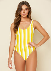 Serene Banana Stripe <br>One Piece