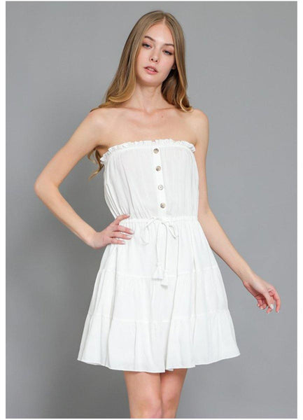 White tube <br>Mini Dress