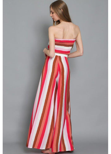 Red Stripes <br>Skirt Set