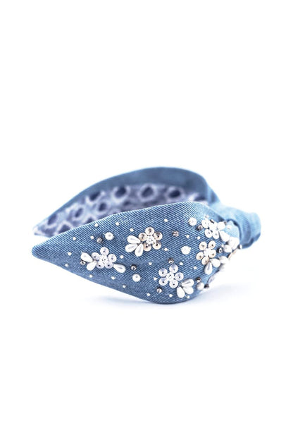 Denim flowers <br>Headband
