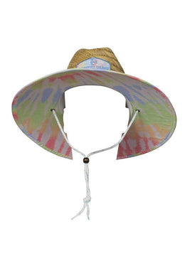 Tie Dye Natural Straw Hat