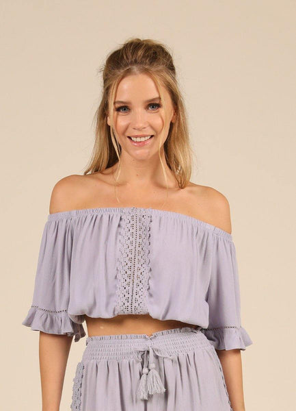 Dusty Lavender <br>Crochet Top
