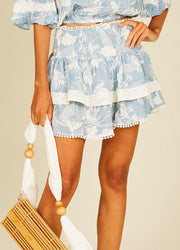 Blue Tropical <br>Skirt