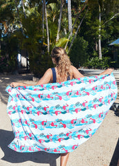 Jungle <br>Flamingo Towel