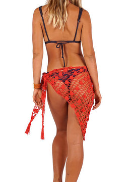 Orange Hand-knitted <br>Sarong