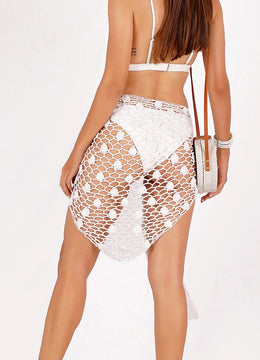White Hand-knitted <br>Sarong