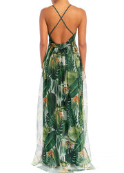 Green Palms <br>Maxi Dress