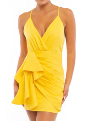 Yellow <br>Mini Dress