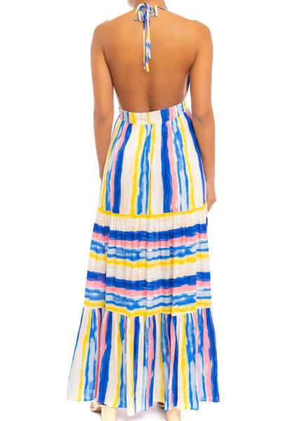 Bright Stripes <br>Maxi Dress
