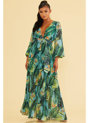 Tropic Miami Belt <br>Maxi Dress
