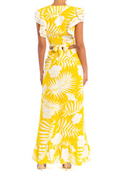 Yellow Florals <br>Skirt Set