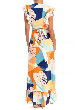 Abstract Ruffle <br>Skirt Set