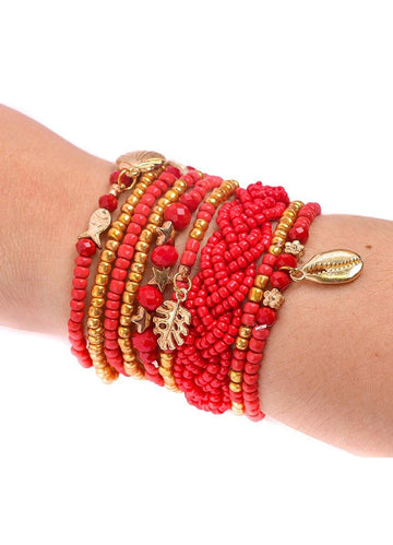 Beaded Multilayered <br>Bracelet Set