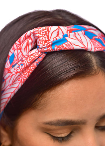 Red floral <br>Headband
