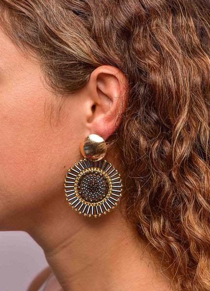 Circle Beaded <br>Earrings