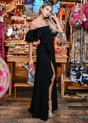 Black Off Shoulder <br>Maxi Dress