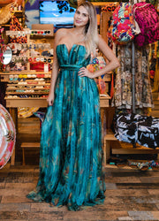 Tropic Off Shoulder <br>Maxi Dress
