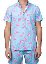 Mint Flamingo <br>Stretch Shirt