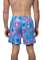 Striped Flamingo <br>Swim trunk