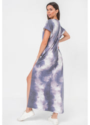 Tie Dye Knit <br>Maxi Dress