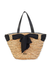 Black Ribbon <br>Shoulder Tote