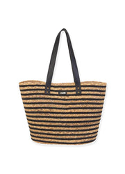 Black Stripes <br>Shoulder Tote