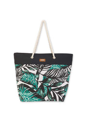 Black Leaves <br>Shoulder Tote