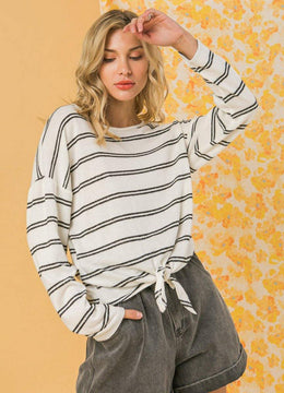 Striped Knit <br>Top