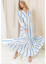 Blue&White <br>Maxi Dress