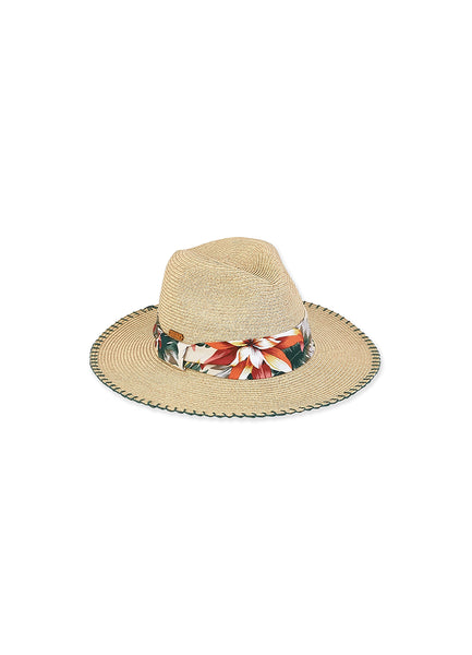 Paper Braid Safari <br>Natural Hat