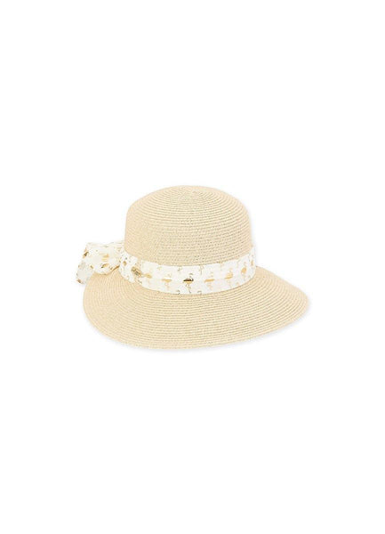 Caribbean Joe <br>Flamingo Natural Hat