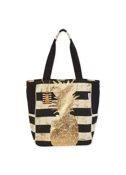 Gold Pineapple <br>Shoulder Tote