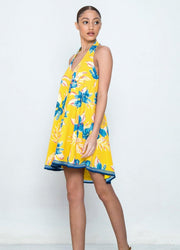 Yellow Halter <br>Mini Dress