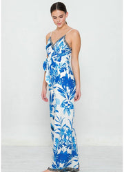 Blue flowers <br>Jumpsuit
