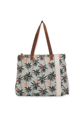 Palm Flamingo <br>Shoulder Tote